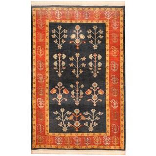 Herat Oriental Persian Hand-knotted Tribal Kajkoli Wool Rug (3'5 x 5'2)