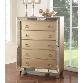ABBYSON LIVING Chateau Mirrored 5 Drawer Chest