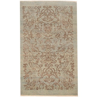 Herat Oriental Afghan Hand-knotted Tribal Oushak Wool Rug (3' x 5')
