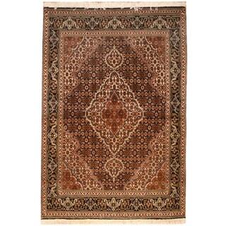 Herat Oriental Persian Hand-knotted Tabriz Wool & Silk Rug (3'6 x 5')