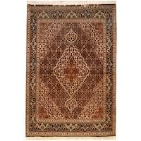 Handmade Herat Oriental Persian Tabriz Wool & Silk Rug  - 3'6 x 5' (Iran)