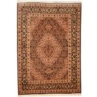 Herat Oriental Persian Hand-knotted Tabriz Wool & Silk Rug (3'6 x 5') - 3'6 x 5'