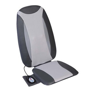 Relaxzen 60-2950L Full Back Leather Shiatsu Massage Cushion with Heat