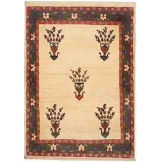 Herat Oriental Persian Hand-knotted Tribal Kajkoli Wool Rug (4'2 x 4'8)