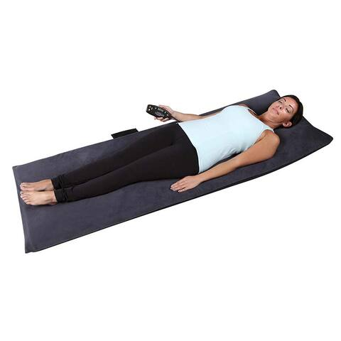 Relaxzen 10-motor Heated Massage Mat With Pillow and Removable Cover