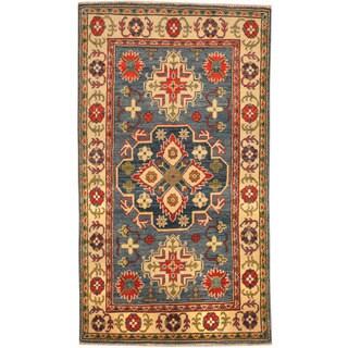 Herat Oriental Afghan Hand-knotted Kazak Wool Rug (3' x 5'3)