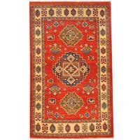 Handmade Herat Oriental Afghan Kazak Wool Rug  - 2'10 x 4'9 (Afghanistan)