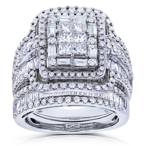 Shop Annello By Kobelli 14k White Gold 2 1/2ct TDW Diamond