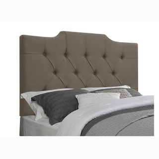 Tufted Taupe Fabric Queen/ Full Size Upholstered Headboard