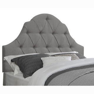 Tufted Grey Queen/Full Size Arched Upholstered Headboard
