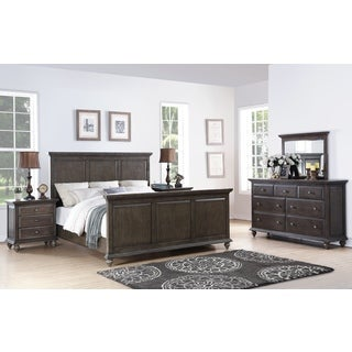 Abbyson Marseilles City Grey 5 Piece Bedroom Set