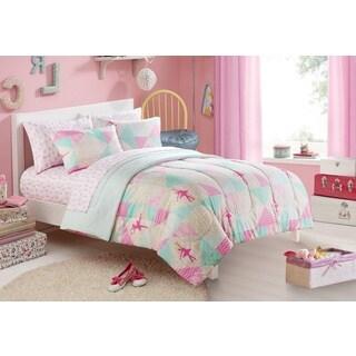 Heritage Kids Ballerina Sparkle Toddler 4-piece Bed in a Bag wtih Sheet Set