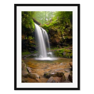 Smoky Mountains waterfalls, Framed Paper Print