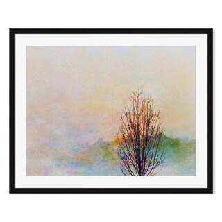 Autumn Landscape Painting, Framed Paper Print