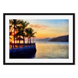 Beautiful sunset, Framed Paper Print