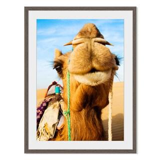 Happy Camel, Framed Paper Print