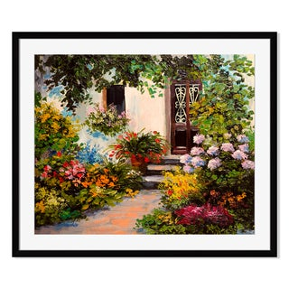 house with patio II, Framed Paper Print