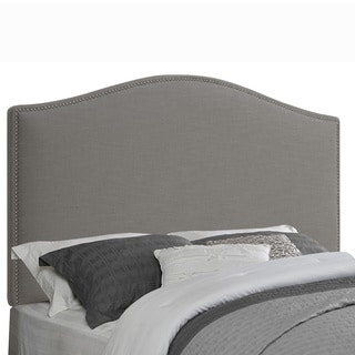 Arched Grey Fabric Queen/Full Size Upholstered Headboard