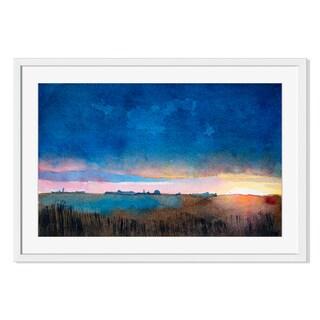 Watercolor landscape I, Framed Paper Print