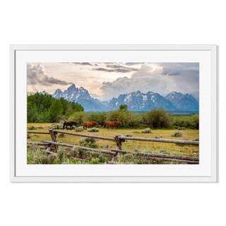 Old ranch fence, Framed Paper Print