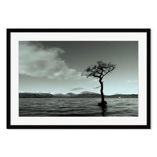 Tree at Loch Lomond, Framed Paper Print