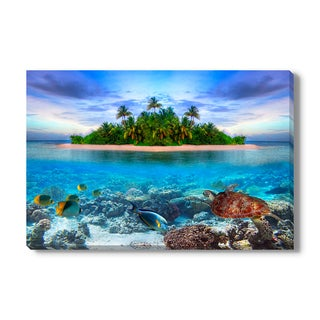 Tropical island of Maldives, Canvas Gallery Wrap