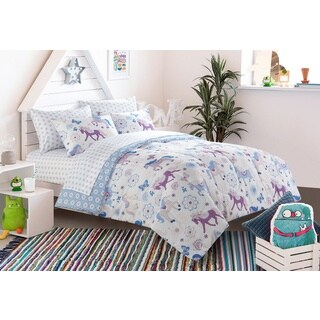 Heritage Kids Pretty Horses Toddler 4 Piece Bed In A Bag With Sheet Set