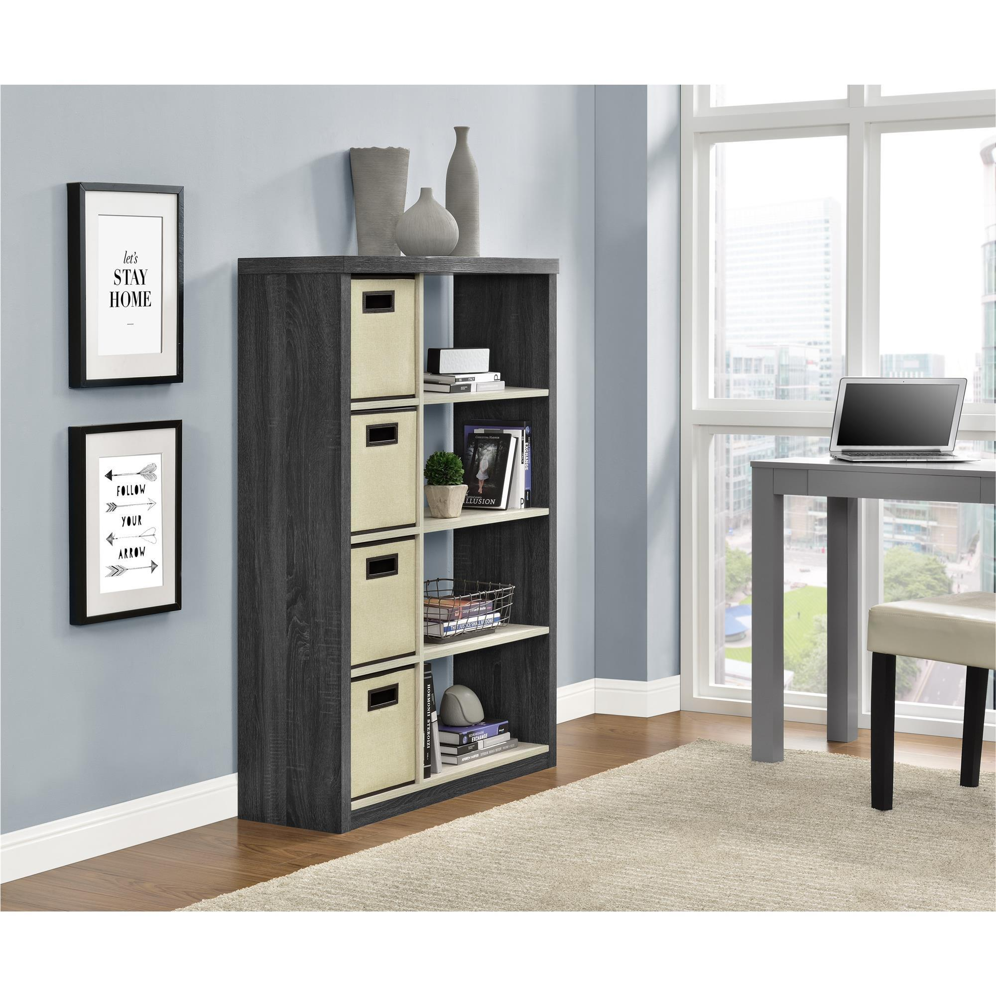 Ameriwood Home Winlen Bookcase with 4 Bins (Bookcase with...