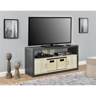 Altra Winlen 55 inch TV Stand with 2 Fabric Bins
