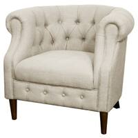 Luna Fabric Tufted Tub Chair