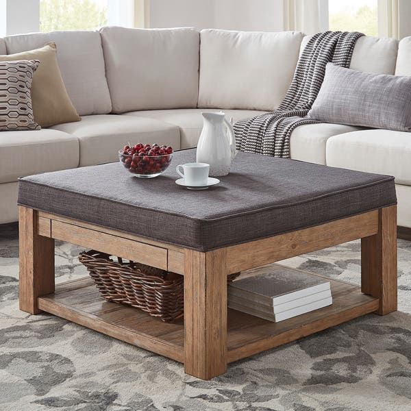 Peachy Shop Lennon Pine Square Storage Ottoman Coffee Table By Cjindustries Chair Design For Home Cjindustriesco