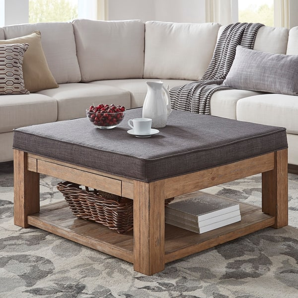 Astonishing Shop Lennon Pine Square Storage Ottoman Coffee Table By Dailytribune Chair Design For Home Dailytribuneorg