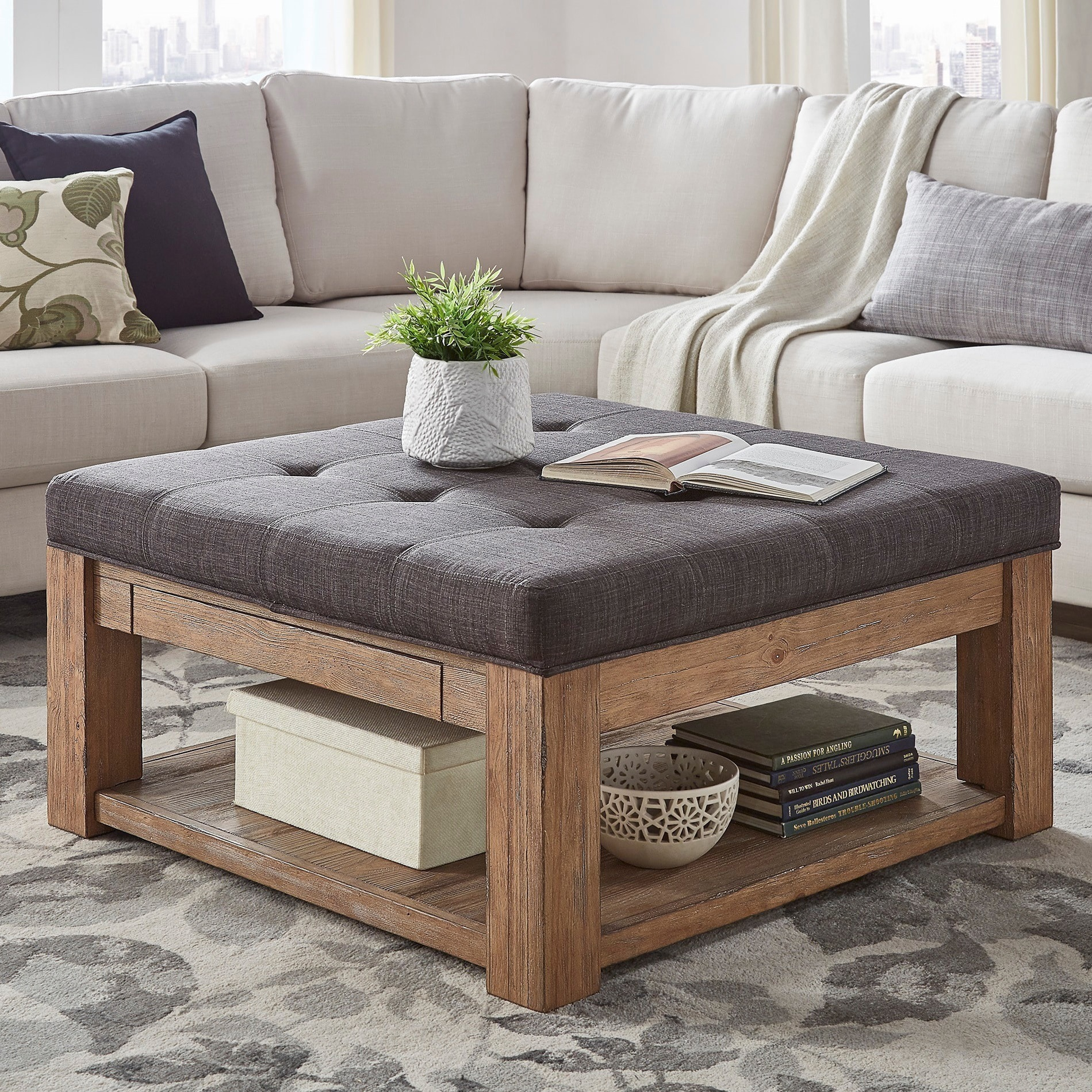 Living Room Ottoman Coffee Table 8