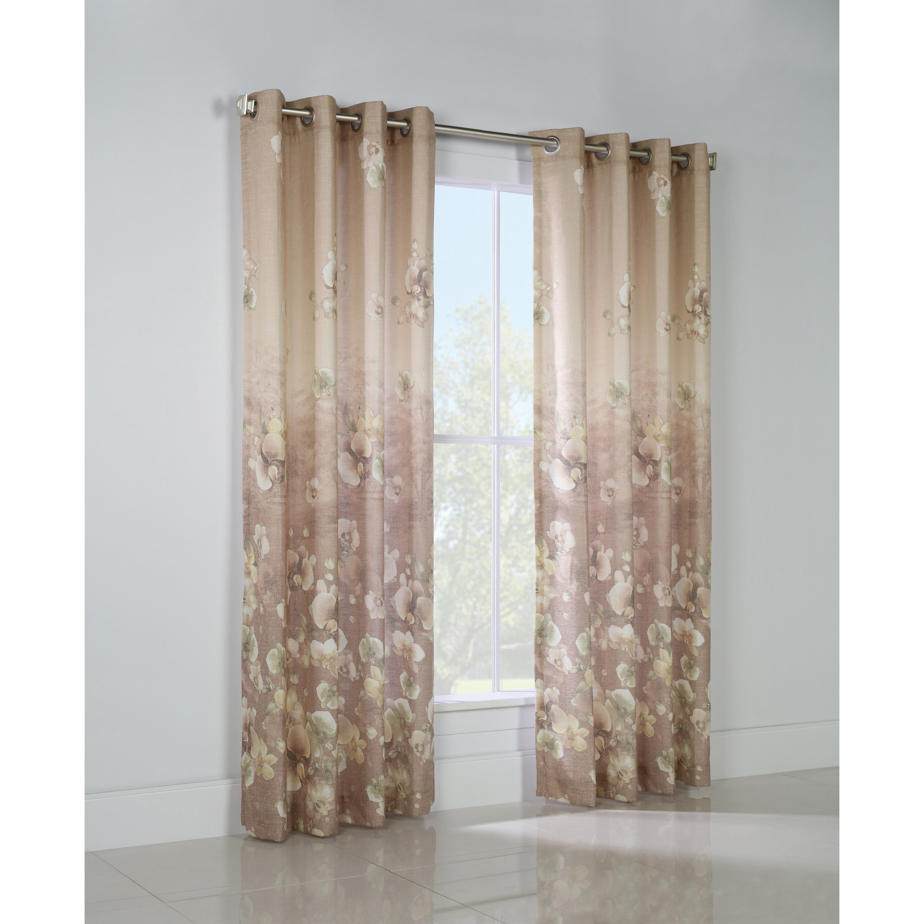 Thermalogic Chamberlain Floral Printed Curtain Panel (63 ...