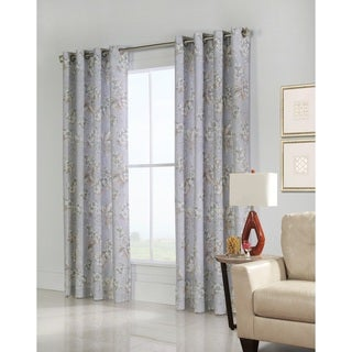 Caldwell Floral Printed Window Curtain Panel