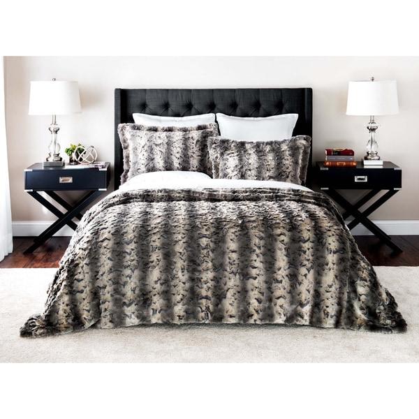 Baltic Linen Luxury Quality Faux Fur 3 Piece Coverlet Set