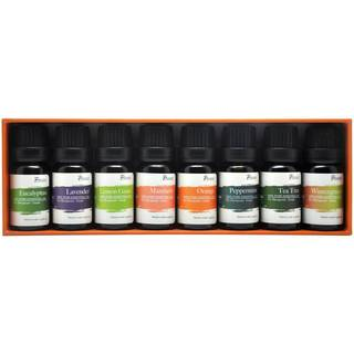 Pursonic 100% Pure Essential Aromatherapy Oils 8-piece Gift Set