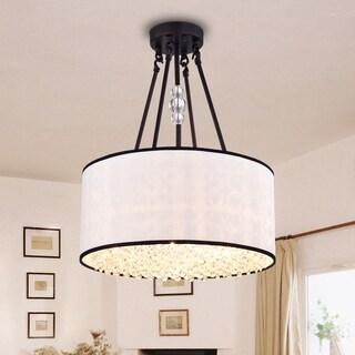 Carrington Antique Bronze 16-inch Circular Ceiling Lamp