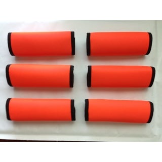Super Grabber Neon Orange 6-piece Handle Grip Luggage Spotter Set