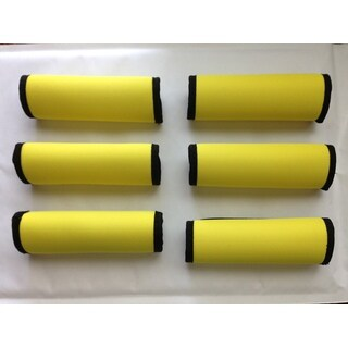 Super Grabber Neon Yellow Neoprene Handle-grip Luggage Spotter Set (6-piece Set)