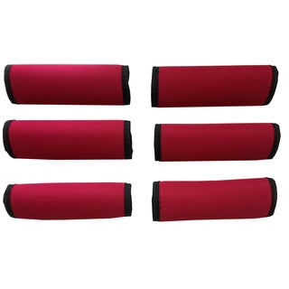 Super Grabber Bright Red Neoprene Handle Grip Luggage Spotters (Set of 6)