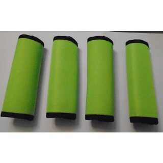 Super Grabber Lime Green Neoprene 4-piece Handle Grip Luggage Spotter Set