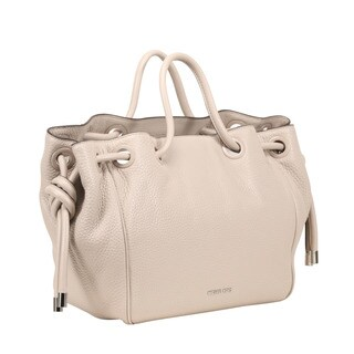 Michael Kors Dalia Large Cement Leather Satchel Handbag