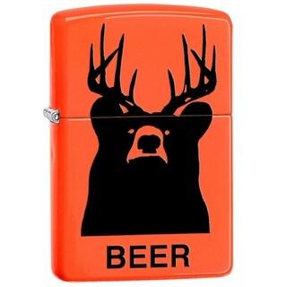 Classic Zippo 'Beer' Orange Lighter