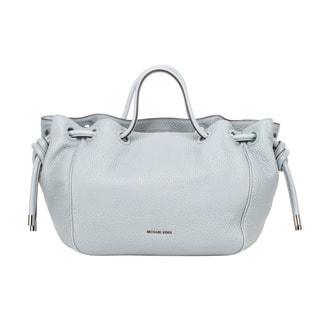 Michael Kors Dalia Large Leather Dusty Blue Satchel Handbag