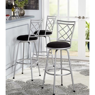 Simple Living Alyssa Adjustable Height Crossback Swivel Stools (Set of 3)