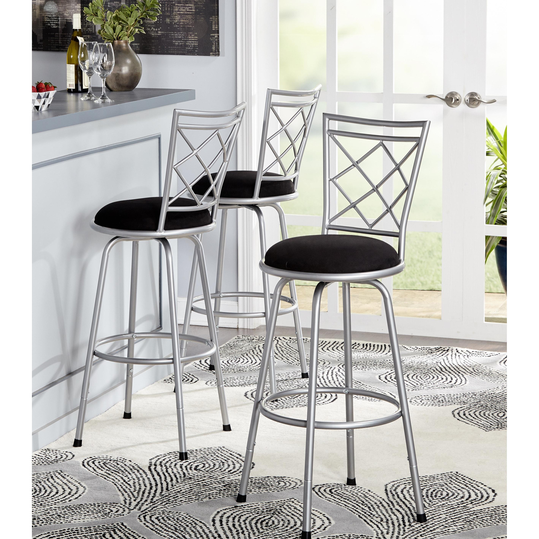 Magnificent Simple Living Alyssa Adjustable Height Crossback Swivel Stools Set Of 3 Uwap Interior Chair Design Uwaporg