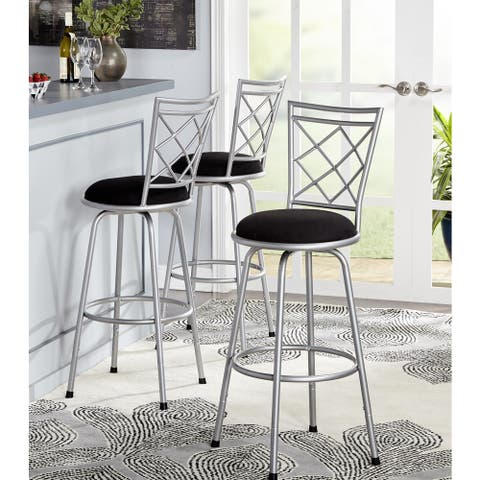 Simple Living Alyssa Adjustable Height Swivel Stools (Set of 3)