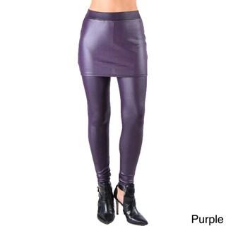 Dinamit Juniors' Faux Leather Liquid Wet Look Skirt-Leggings