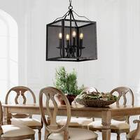 Mird Black Metal 12-inch Box Pendant Light